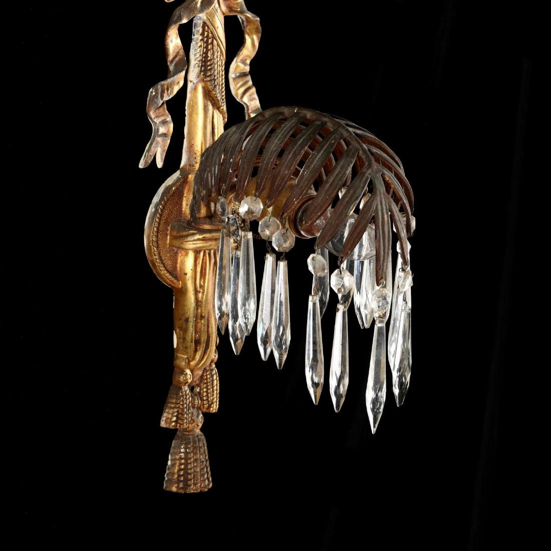 Italian Classical Style Gilt Palm Chandelier and - 8