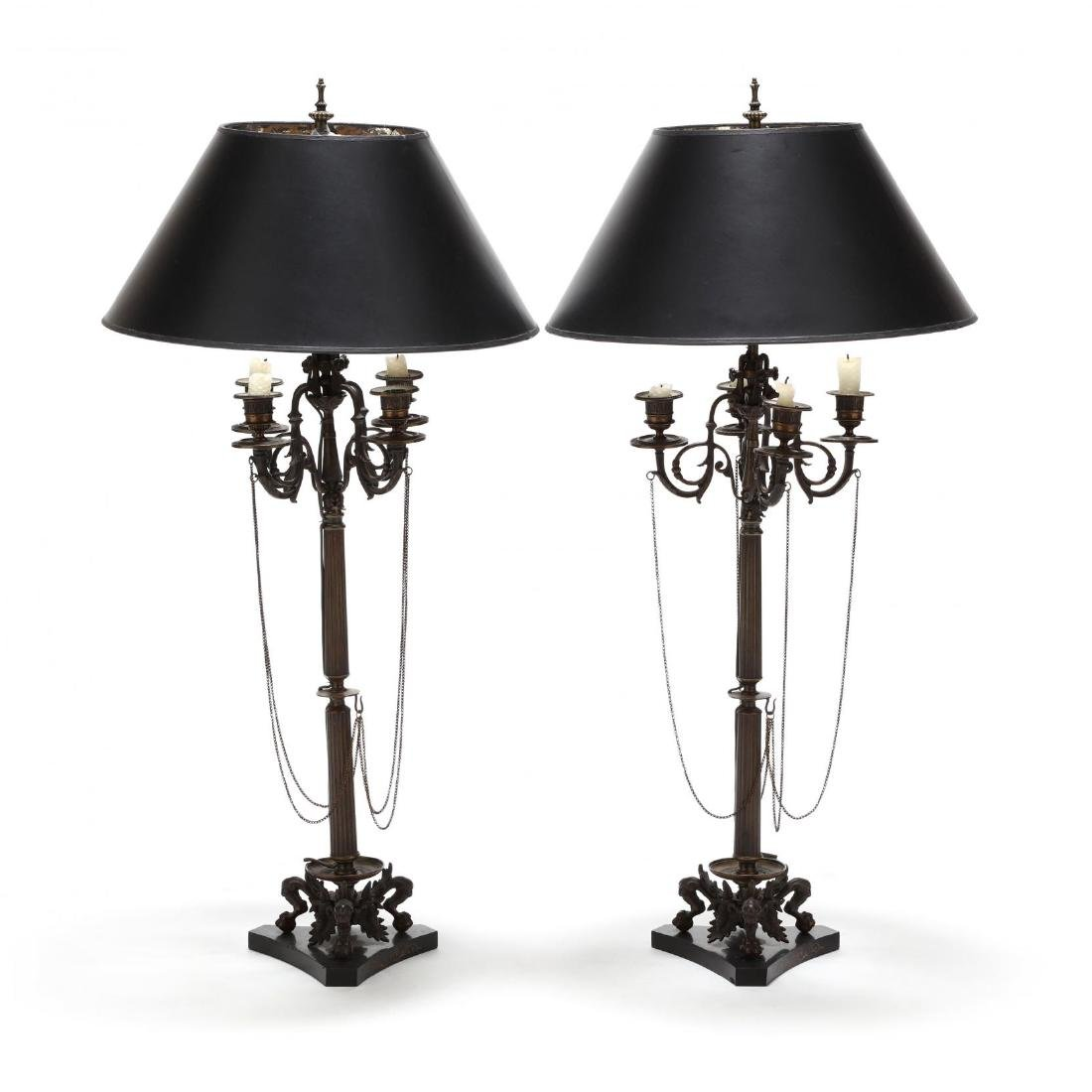 Pair of English Renaissance Revival Candelabra