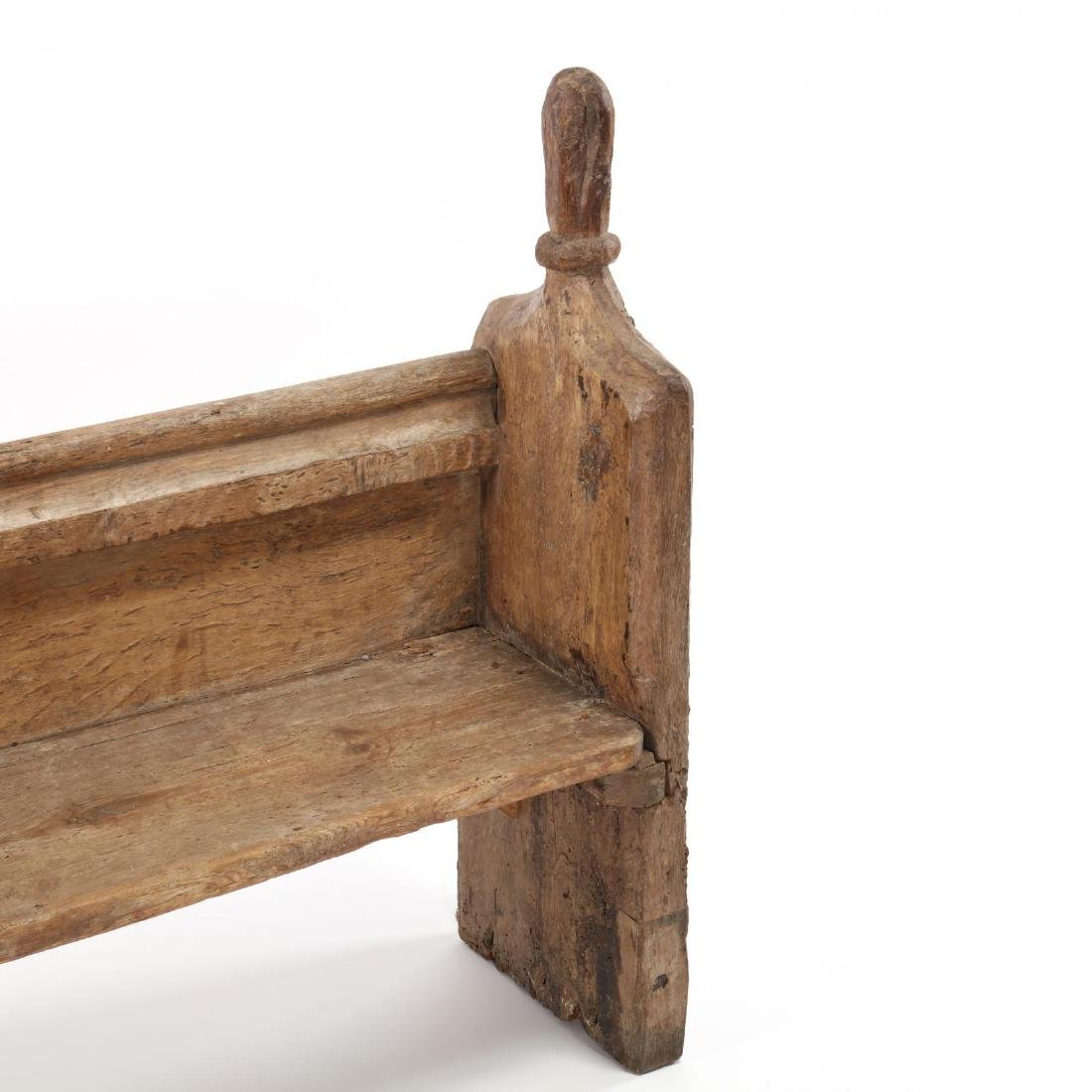 Two Continental 18th Century Pew Benches - 3