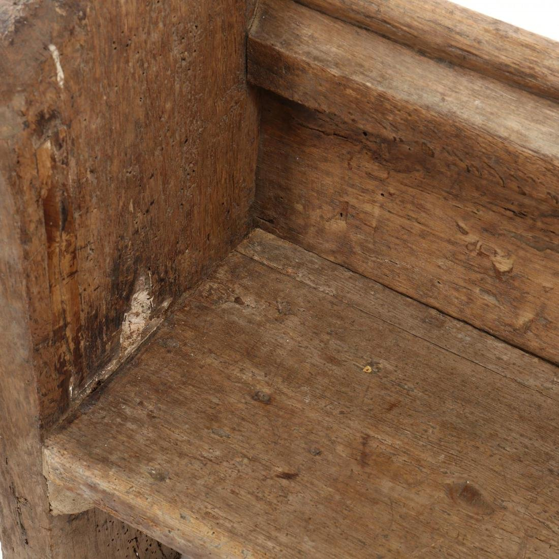 Two Continental 18th Century Pew Benches - 4