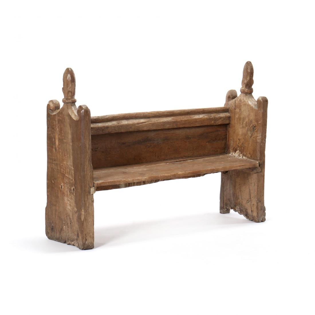 Two Continental 18th Century Pew Benches - 6