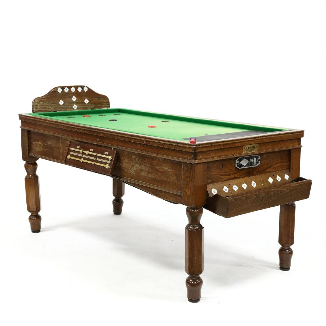 Antique English Bar Billiards Table and Accessories