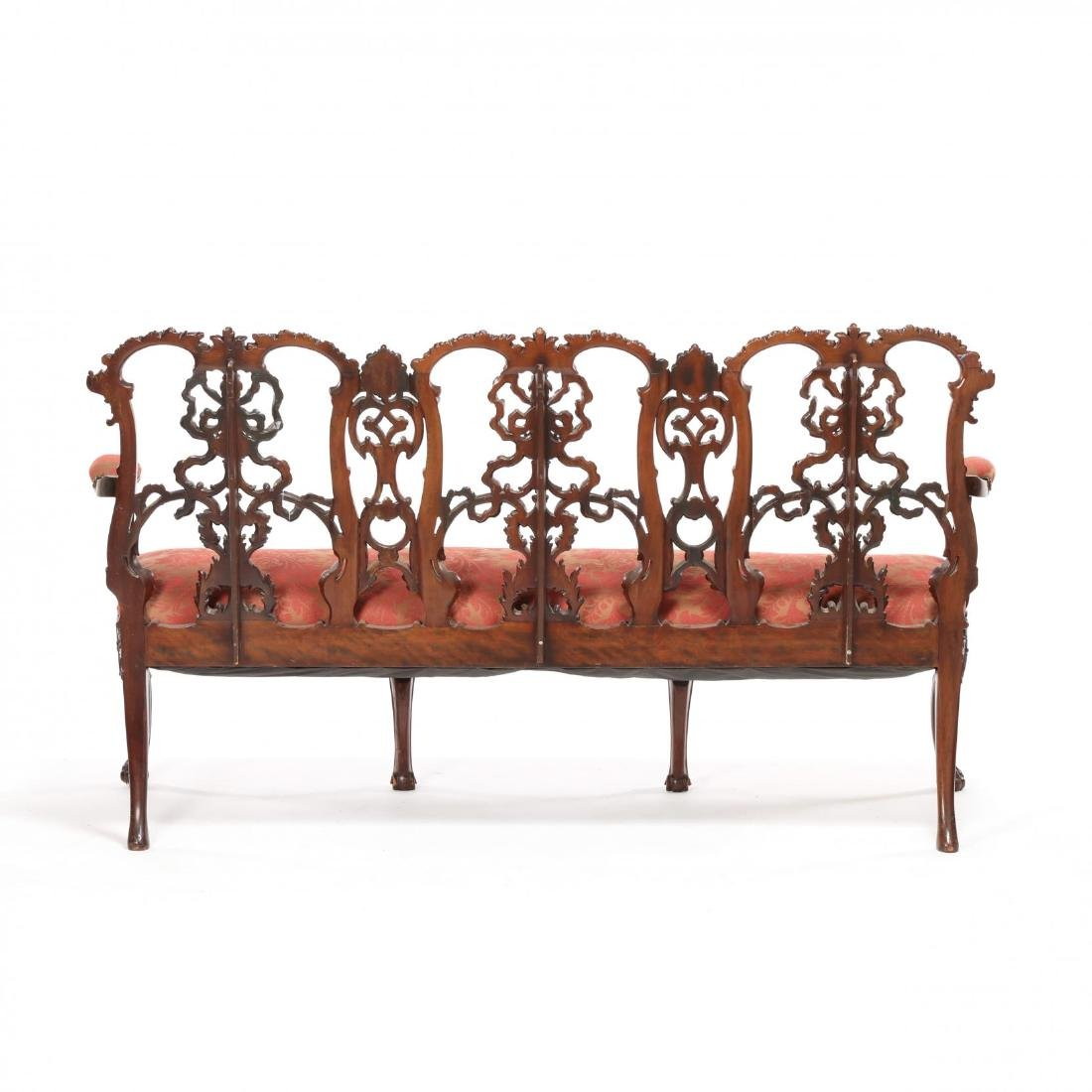 English or Irish Chippendale Style Antique Triple Back - 7