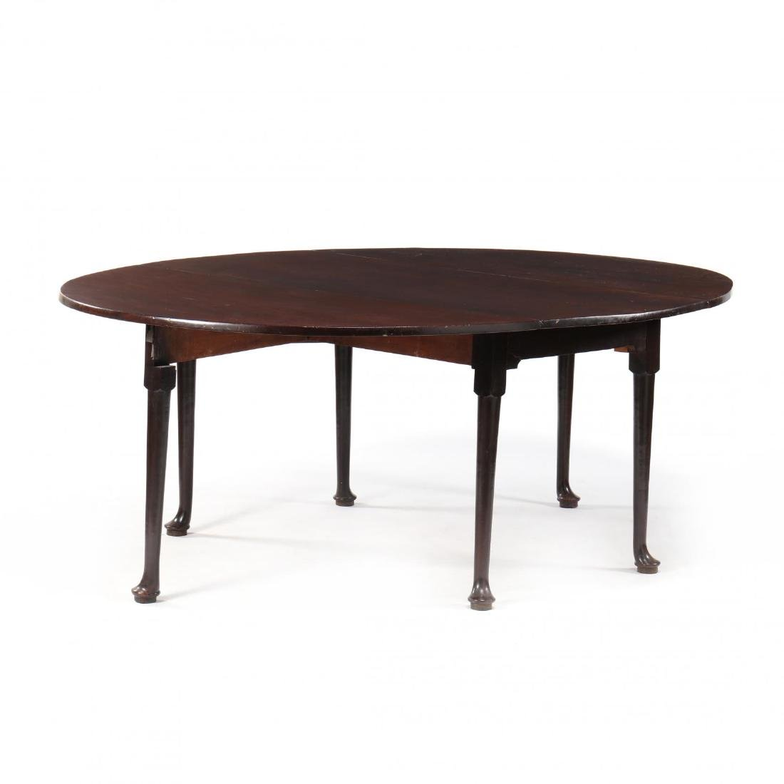 George II Mahogany Drop Leaf Dining Table - 2