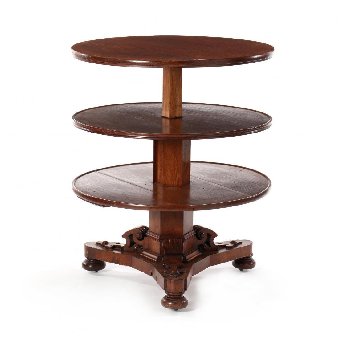Edwardian Oak Metamorphic Tiered Serving Table