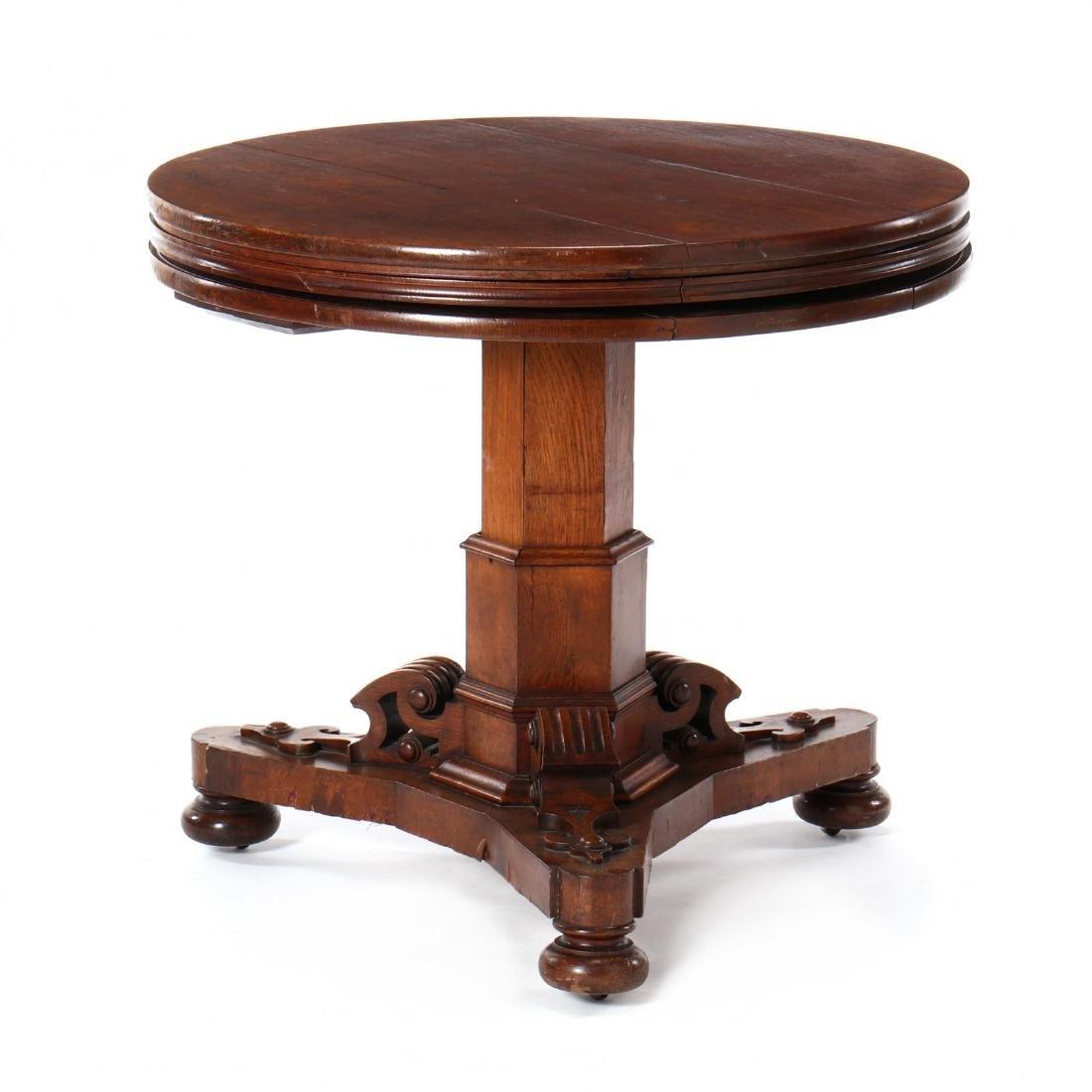 Edwardian Oak Metamorphic Tiered Serving Table - 3