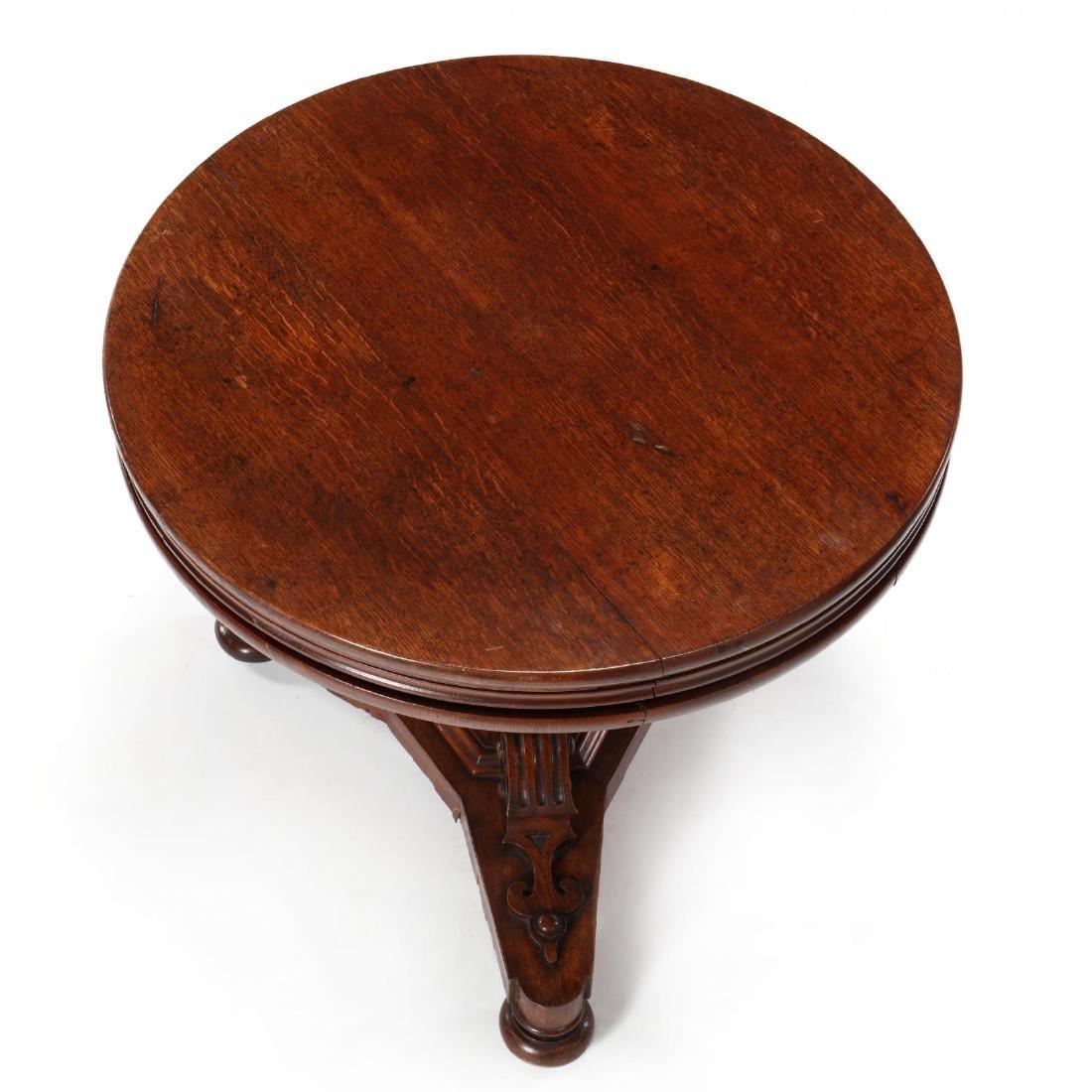 Edwardian Oak Metamorphic Tiered Serving Table - 5