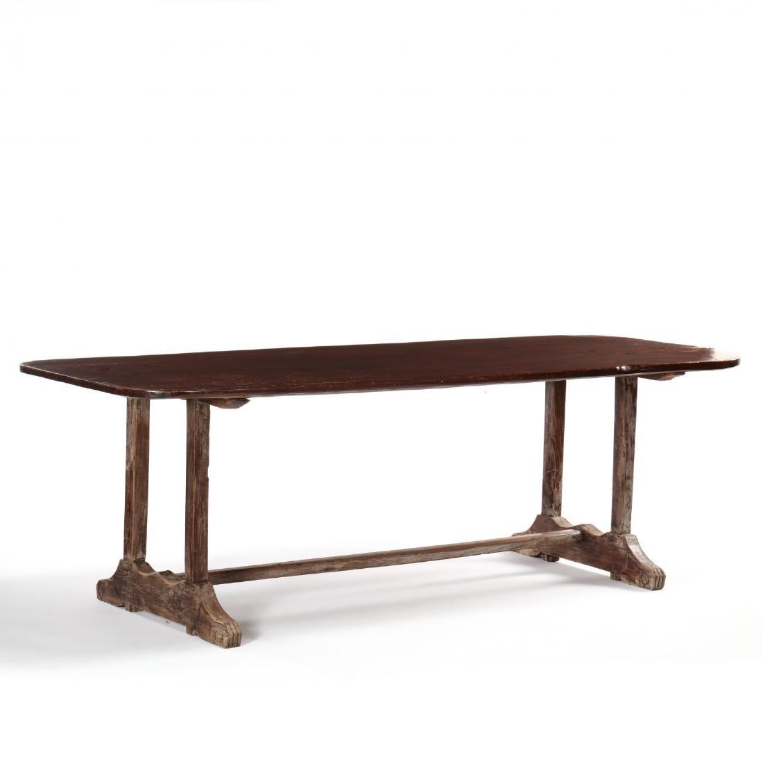 British Colonial Mahogany Harvest Table