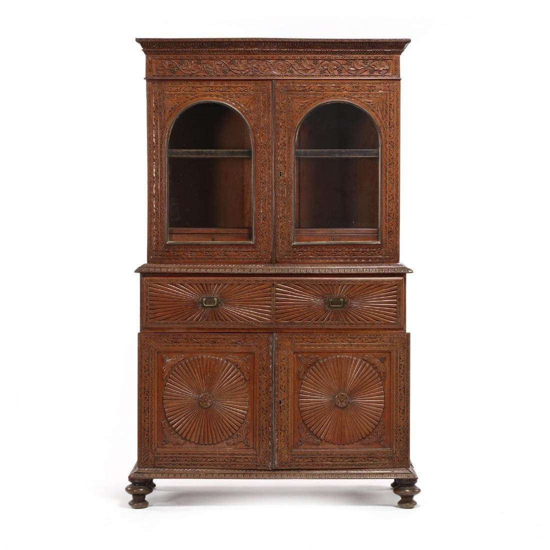 British Colonial Anglo-Indian Secretary Bookcase