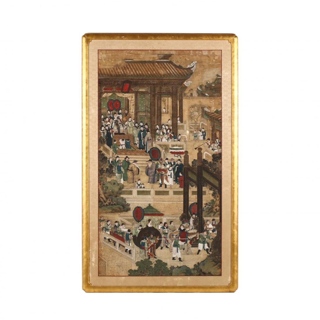 A Qing Dynasty Chinese Court Painting