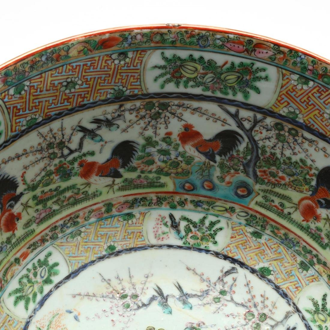 A Rare Large Chinese Export Porcelain Punch Bowl with - 5