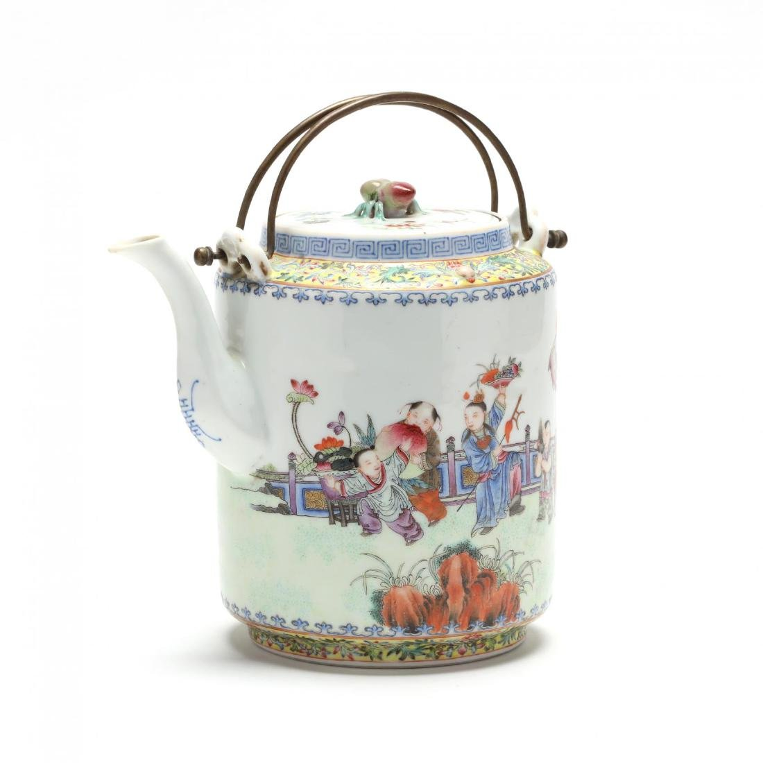 A Chinese Qing Dynasty Porcelain Teapot