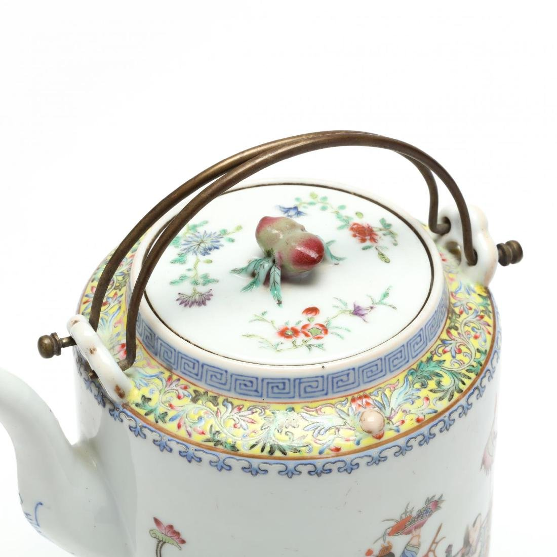 A Chinese Qing Dynasty Porcelain Teapot - 2