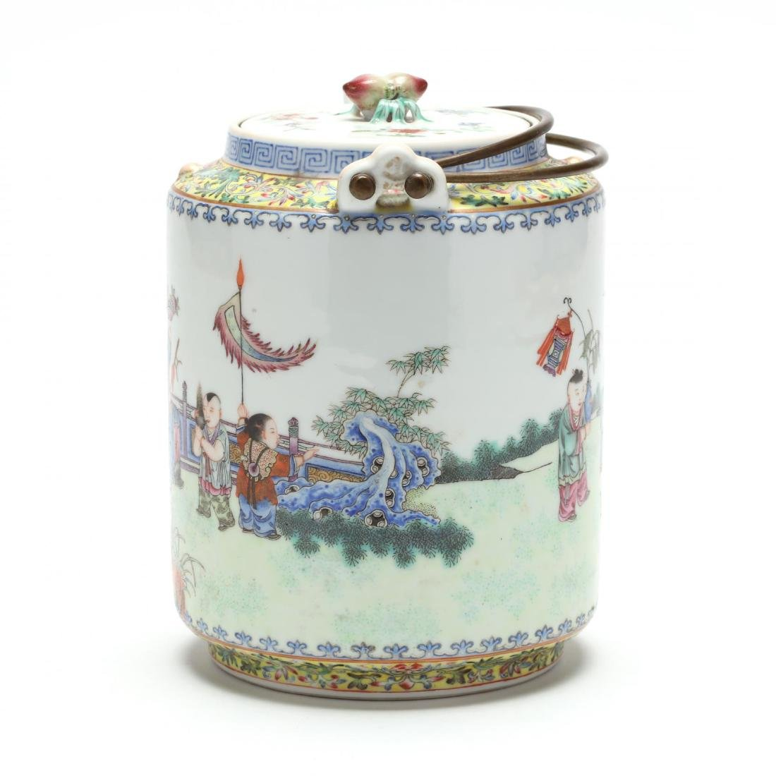 A Chinese Qing Dynasty Porcelain Teapot - 4
