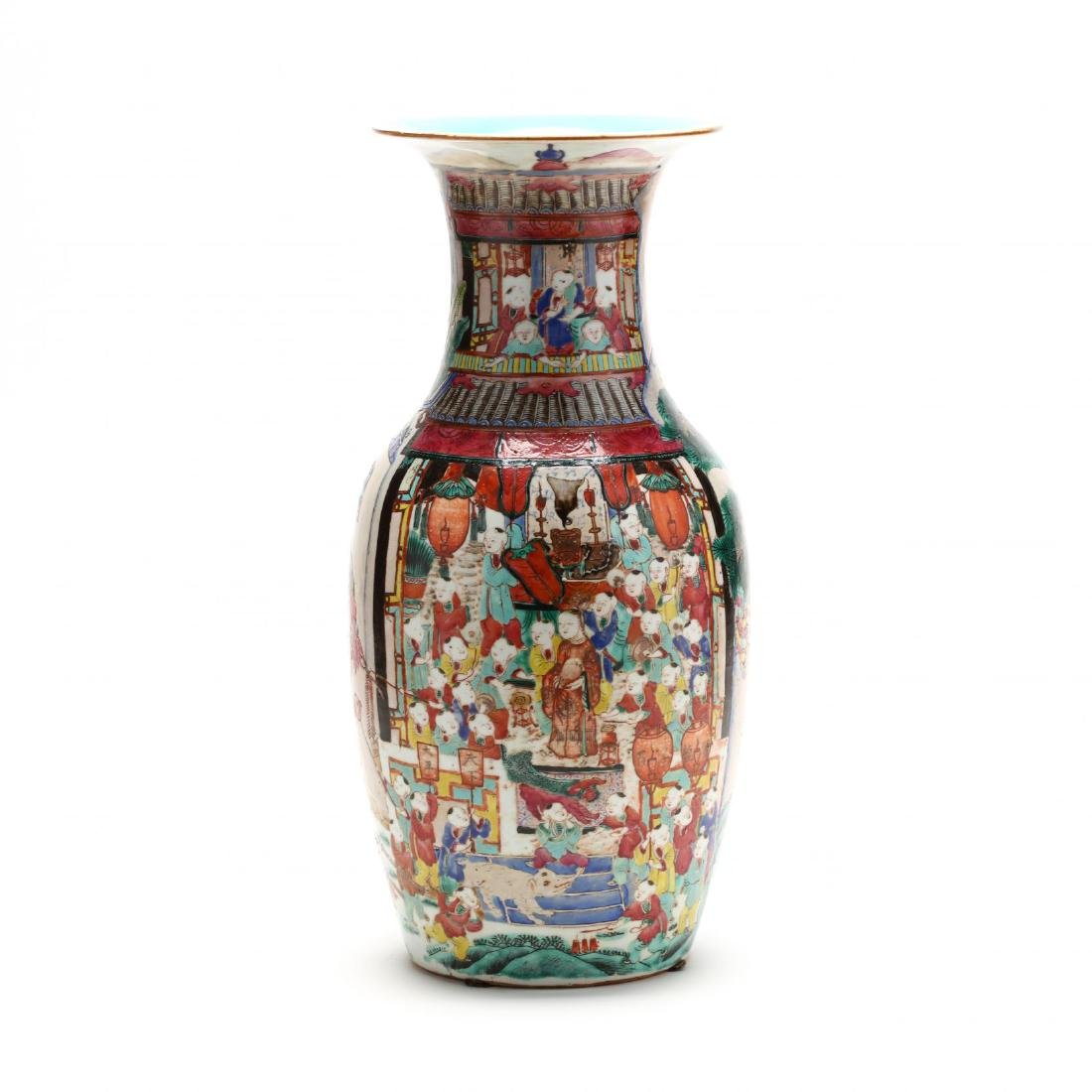 "A Large Chinese ""One Hundred Boys"" Famille Rose Vase"
