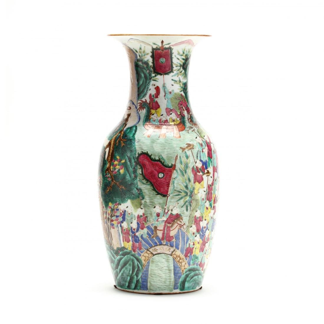 "A Large Chinese ""One Hundred Boys"" Famille Rose Vase - 3"
