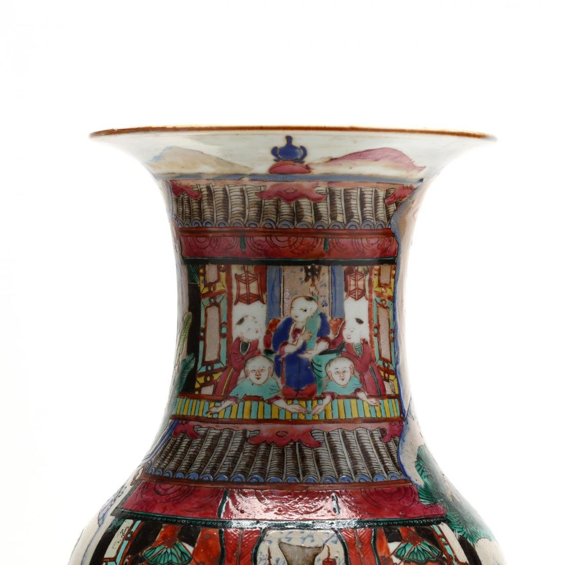 "A Large Chinese ""One Hundred Boys"" Famille Rose Vase - 4"