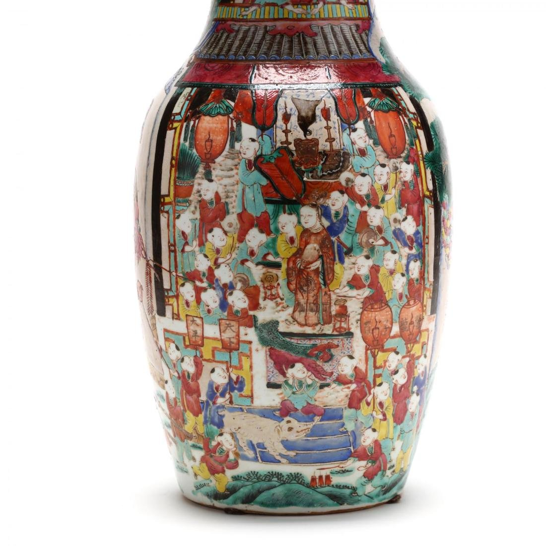 "A Large Chinese ""One Hundred Boys"" Famille Rose Vase - 5"