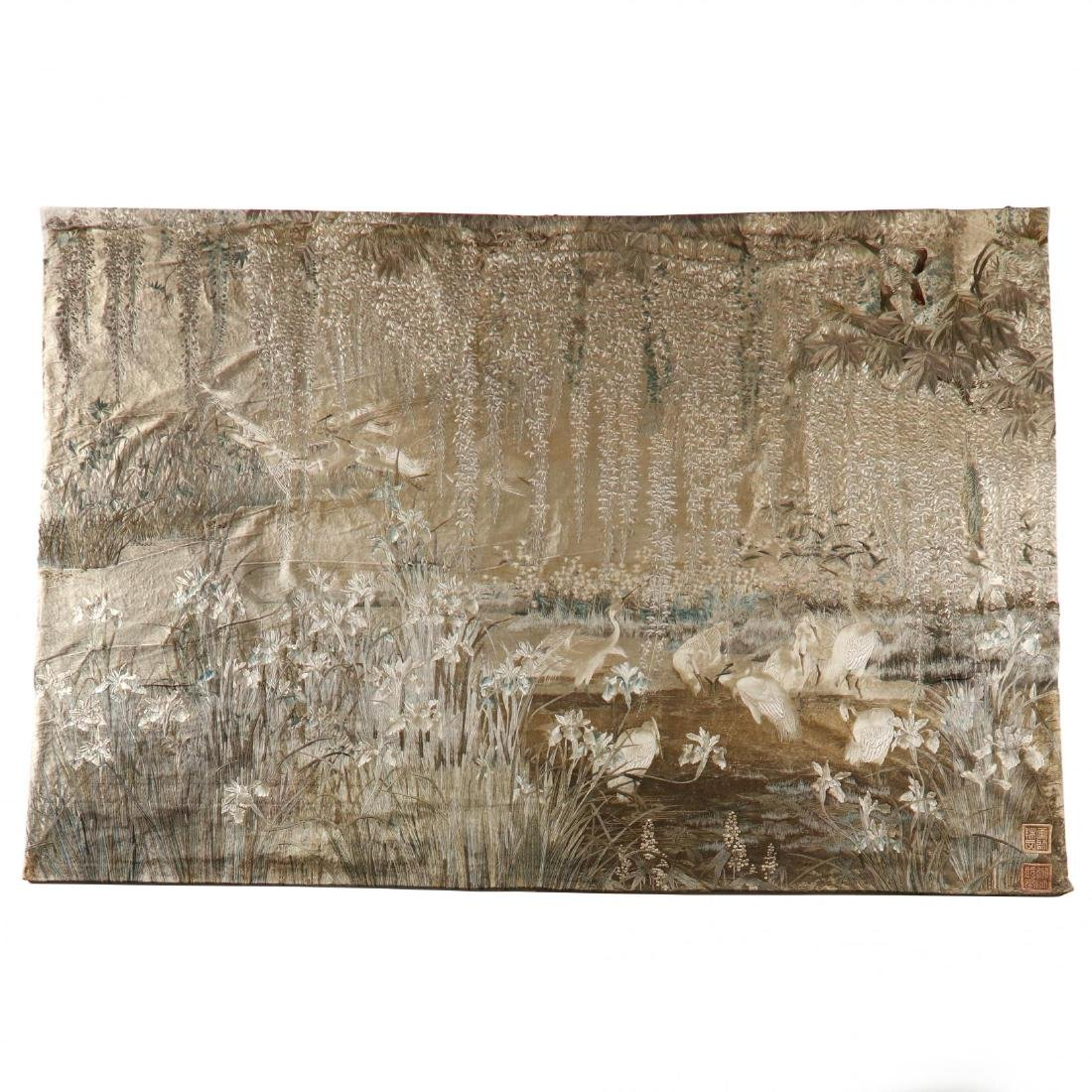 An Important Japanese Meiji Period Wall Tapestry