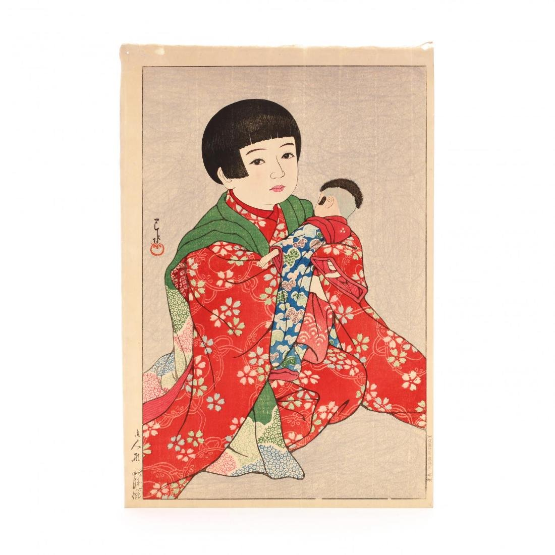 A Doll  by Hasui Kawase (Japanese, 1883-1957)
