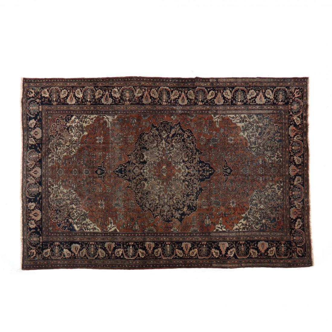 Antique Feraghan Sarouk Carpet