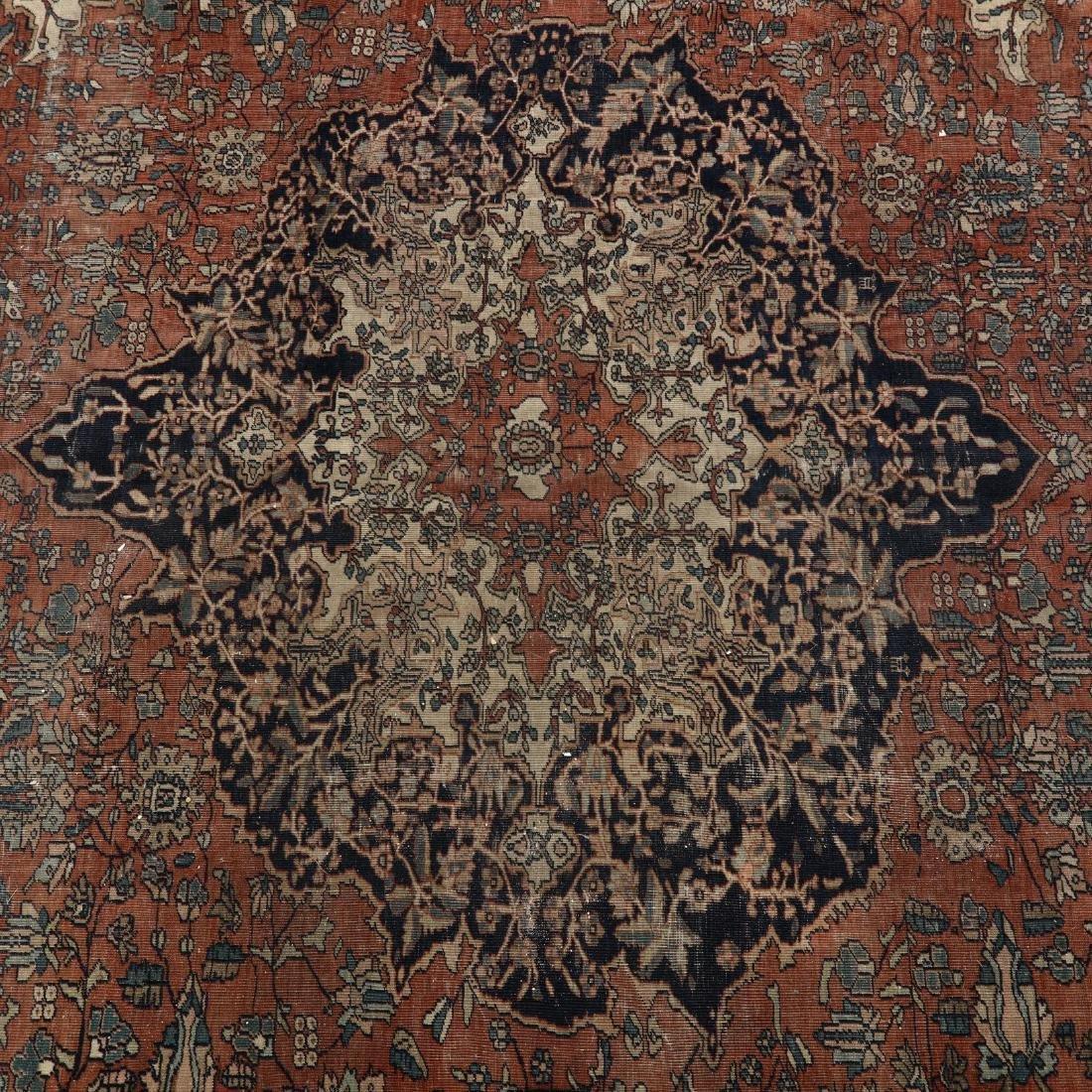 Antique Feraghan Sarouk Carpet - 2