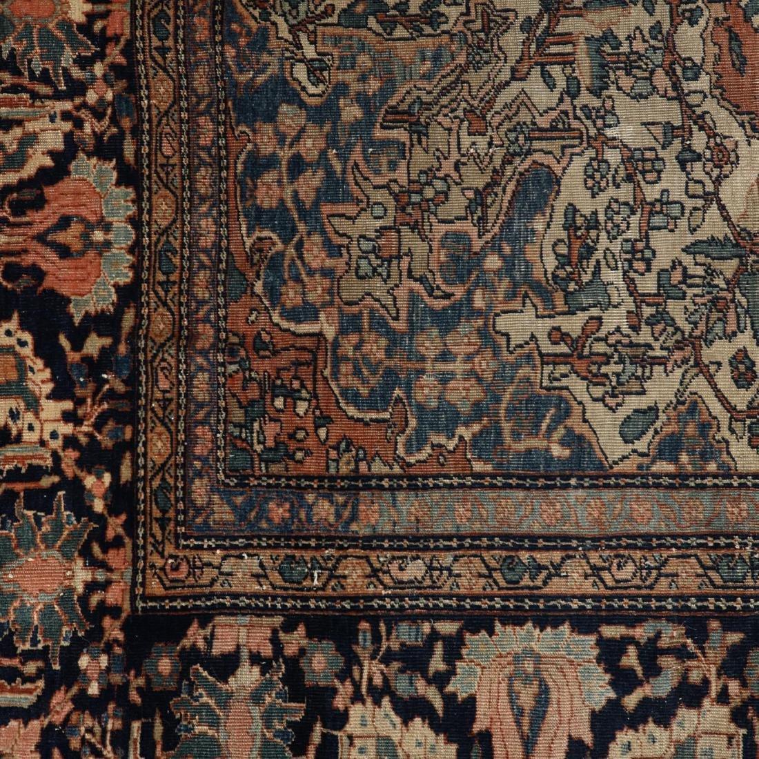 Antique Feraghan Sarouk Carpet - 3