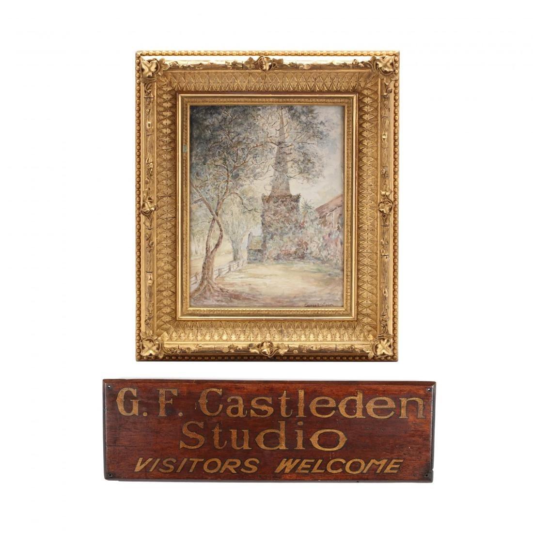 George Castleden (LA, 1861-1945), Watercolor of Trinity