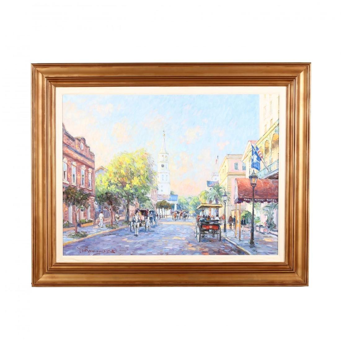 Jan Pawlowski (b. 1949), Meeting Street, Charleston