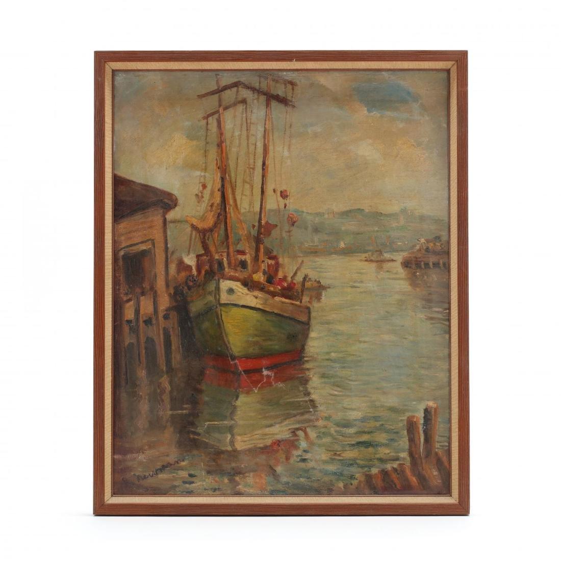 Robert Von Neuman (Germany/WI, 1888-1976), Harbor on