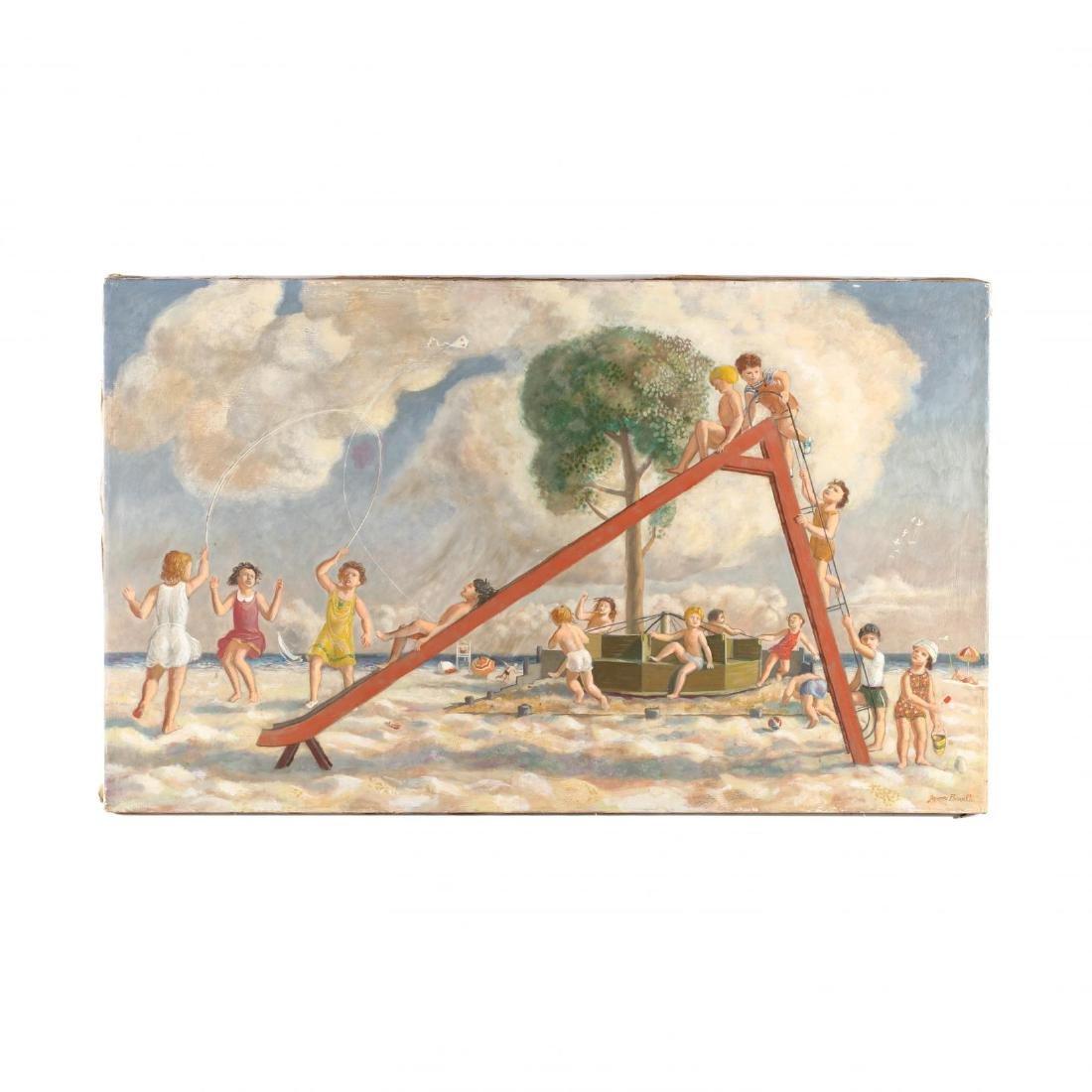 James Bonelli (PA, 1916-2000),  Beach Playground
