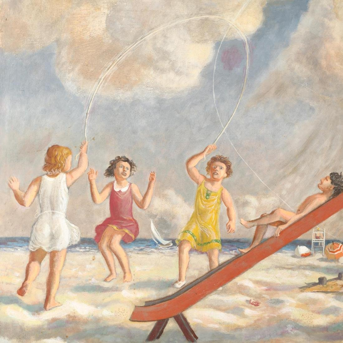 James Bonelli (PA, 1916-2000),  Beach Playground - 3