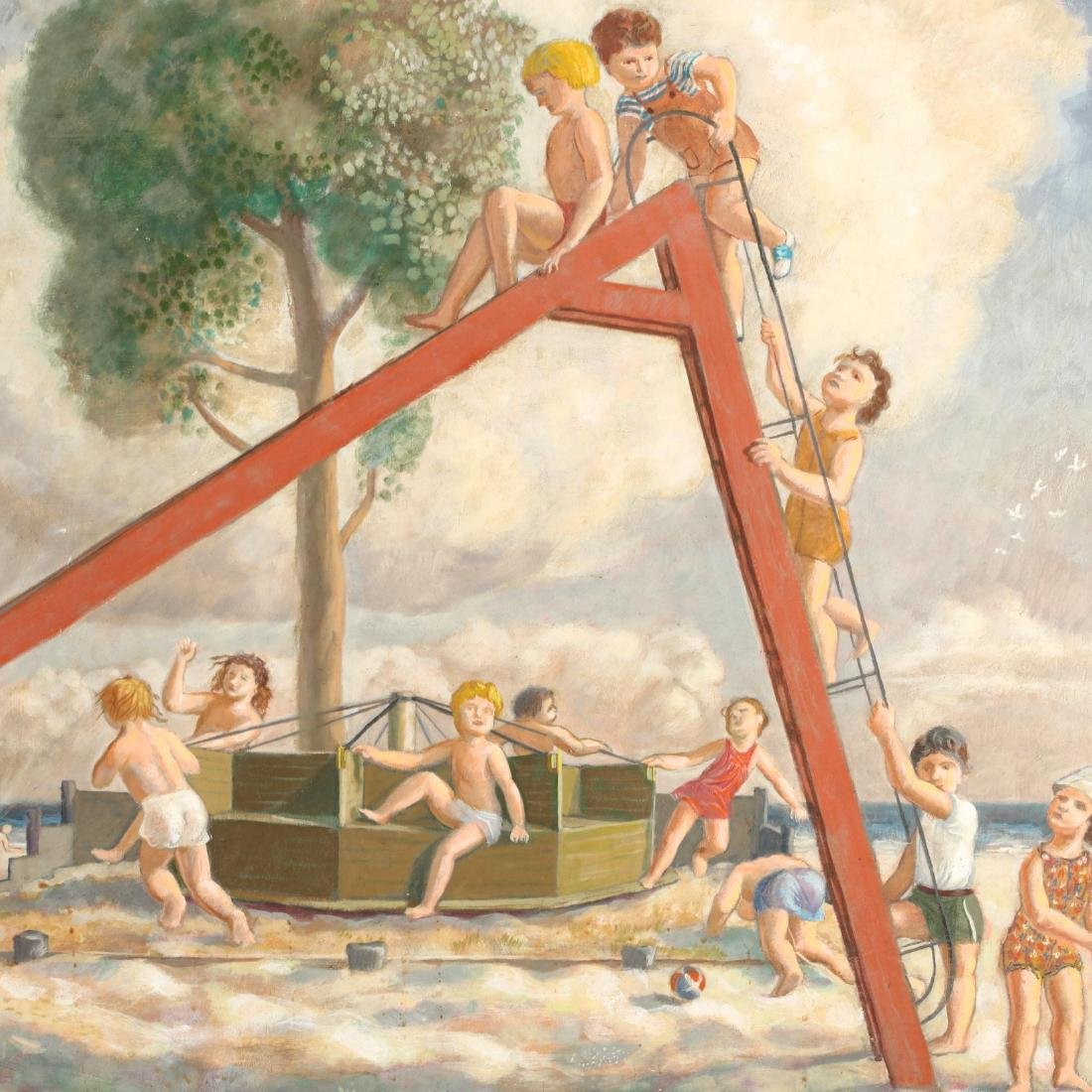 James Bonelli (PA, 1916-2000),  Beach Playground - 4
