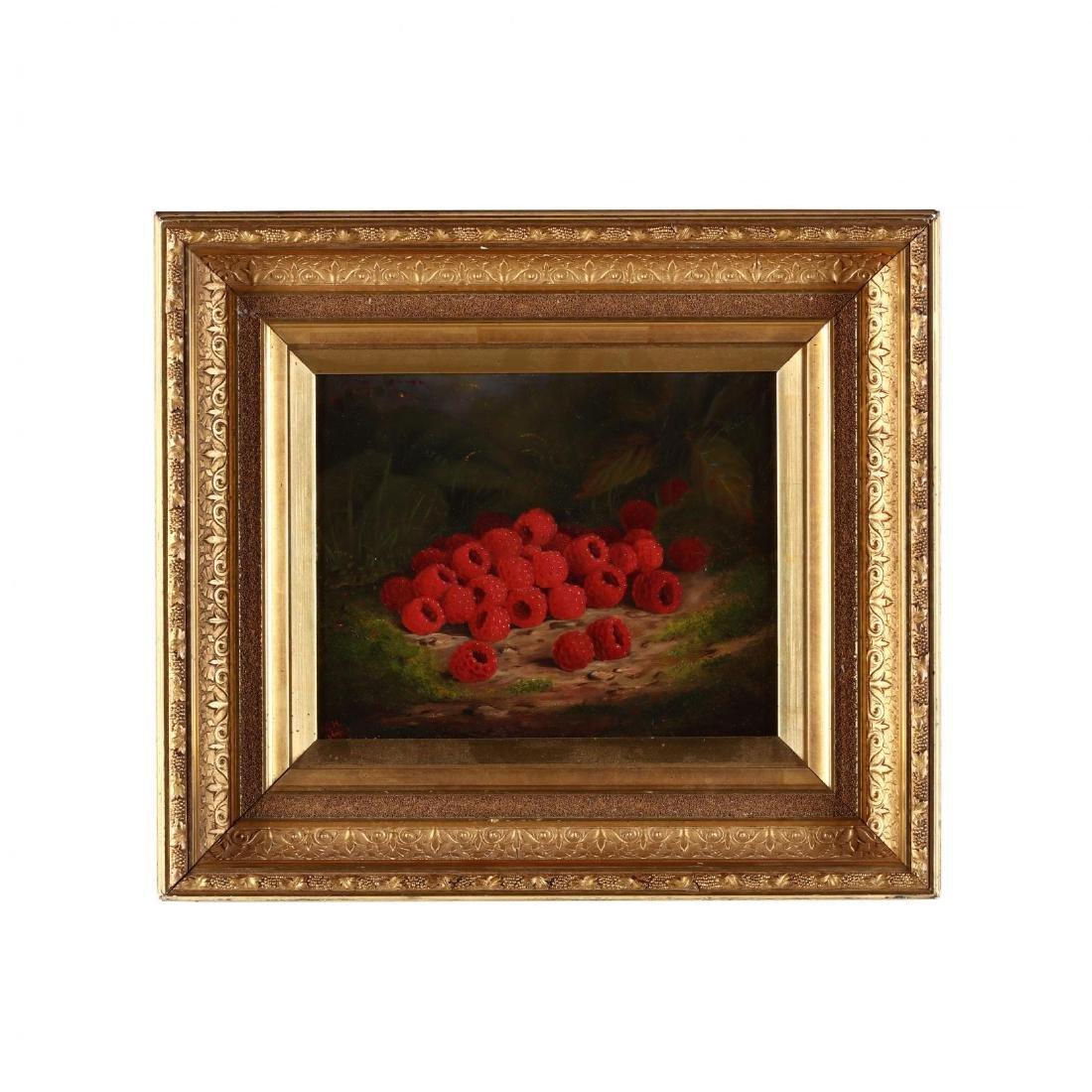 American Pre-Raphaelite Still Life of Raspberries