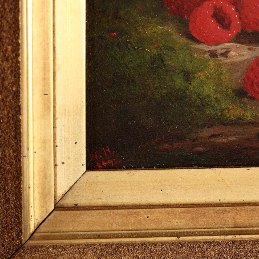 American Pre-Raphaelite Still Life of Raspberries - 2