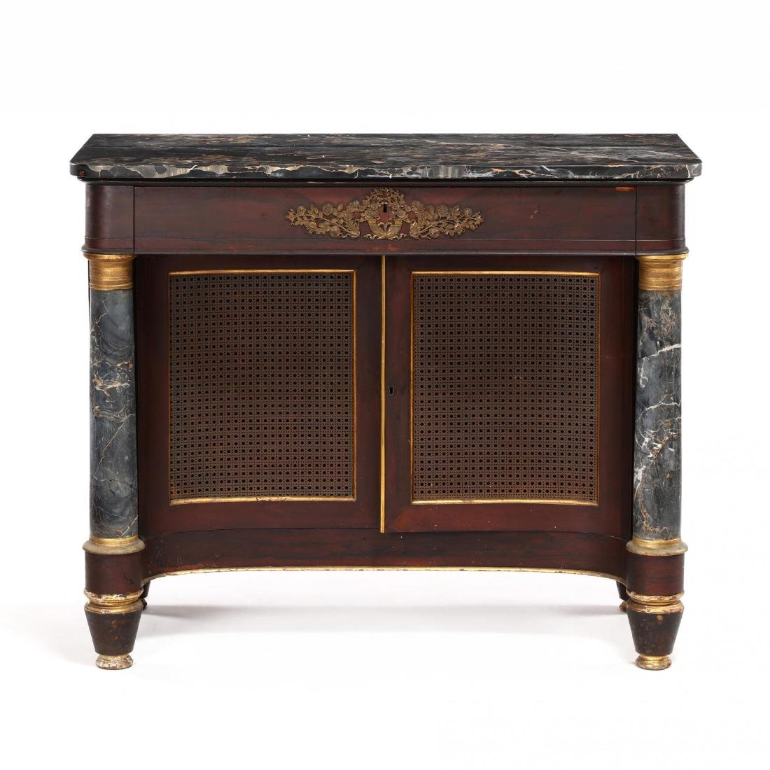 American Classical Marble Top and Gilt Pier Table