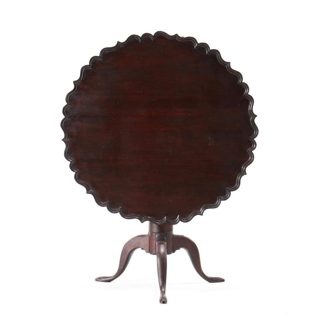New England Queen Anne Tilt Top Tea Table - 2