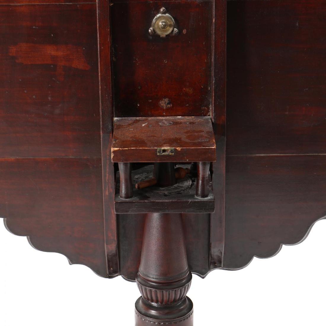 New England Queen Anne Tilt Top Tea Table - 4