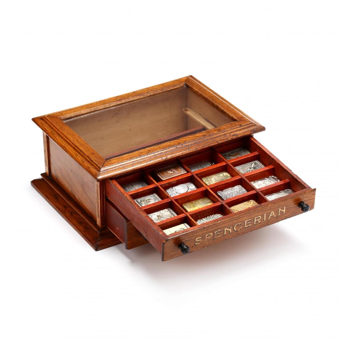 Match Safe Collection in a Spencerian Pen Display Case - 2
