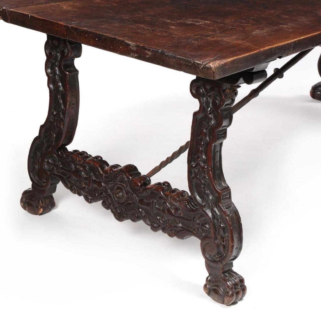 Spanish Baroque Style Carved Dining Table - 2