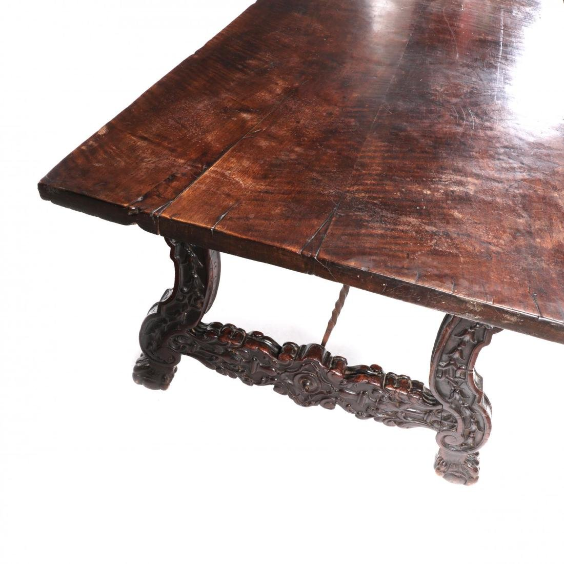 Spanish Baroque Style Carved Dining Table - 4