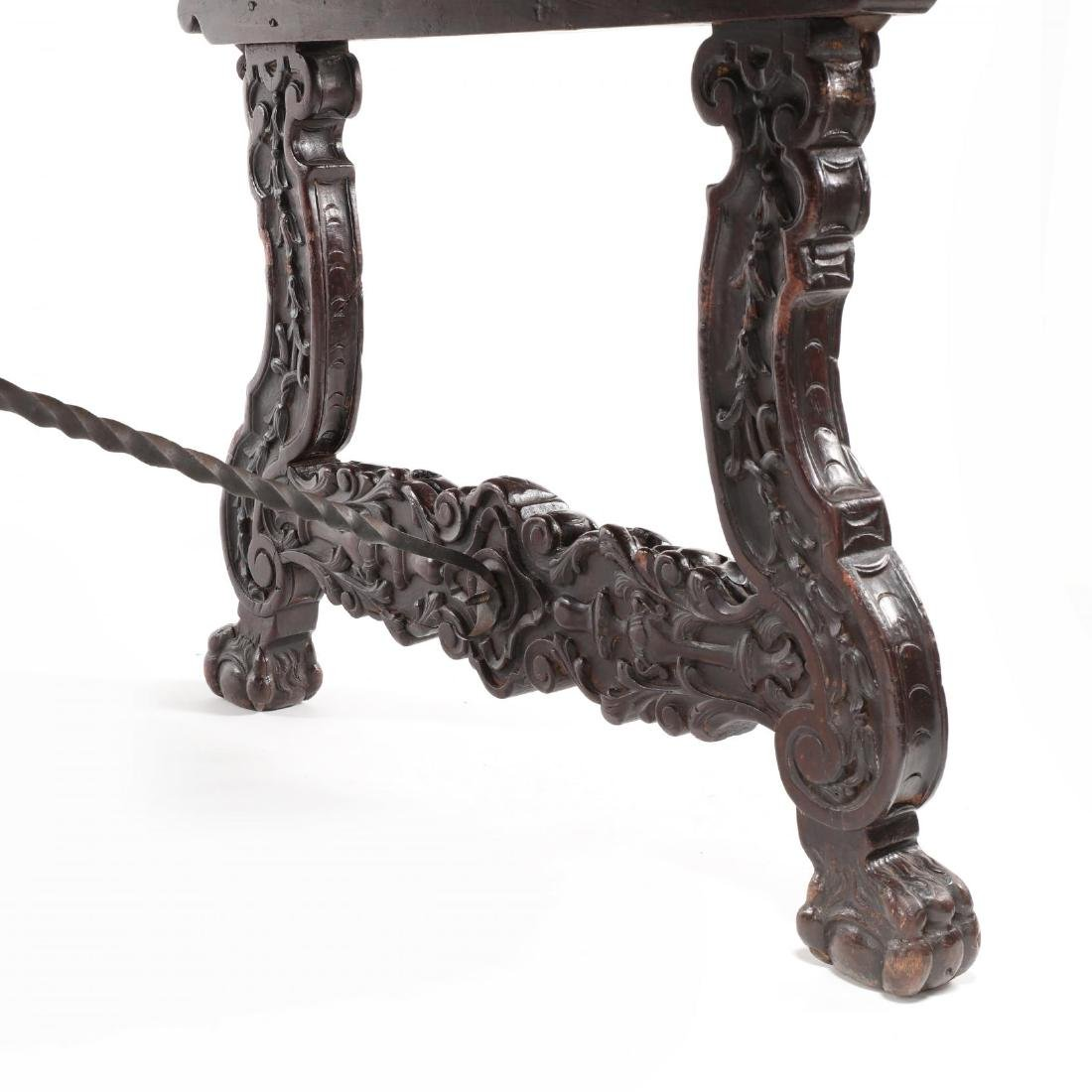 Spanish Baroque Style Carved Dining Table - 6