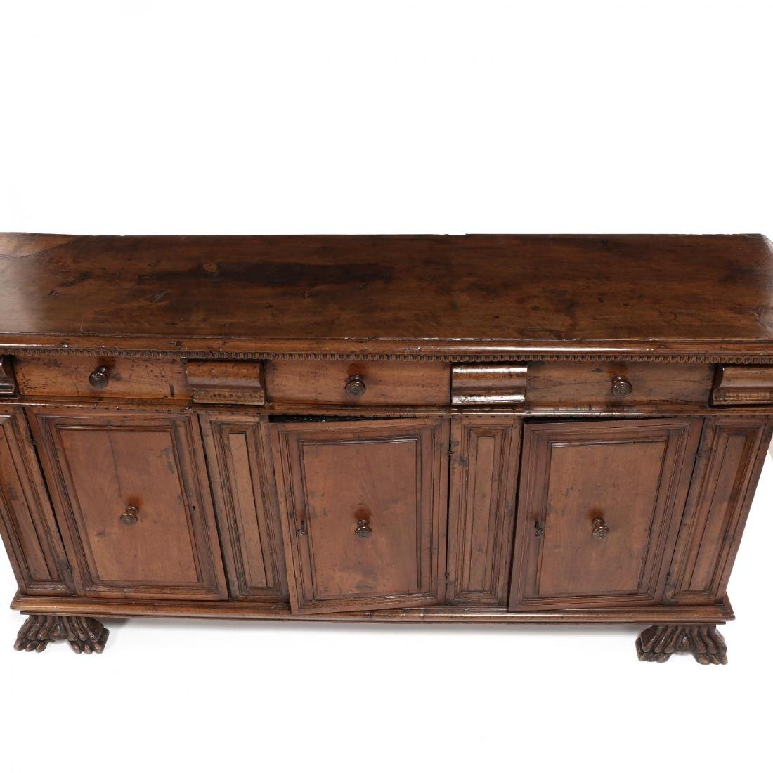 Continental Walnut Carved Sideboard - 2