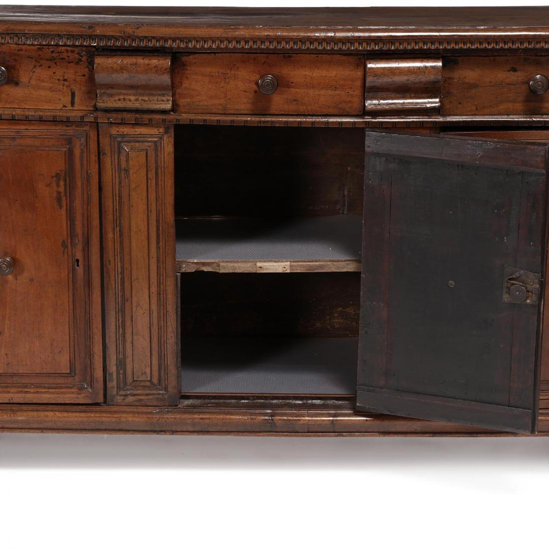 Continental Walnut Carved Sideboard - 5