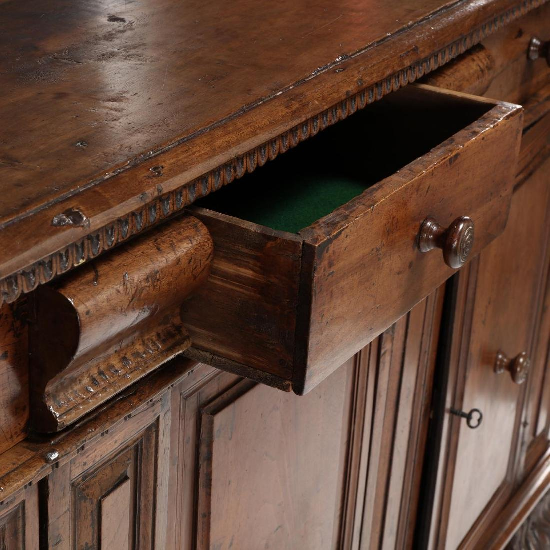 Continental Walnut Carved Sideboard - 6