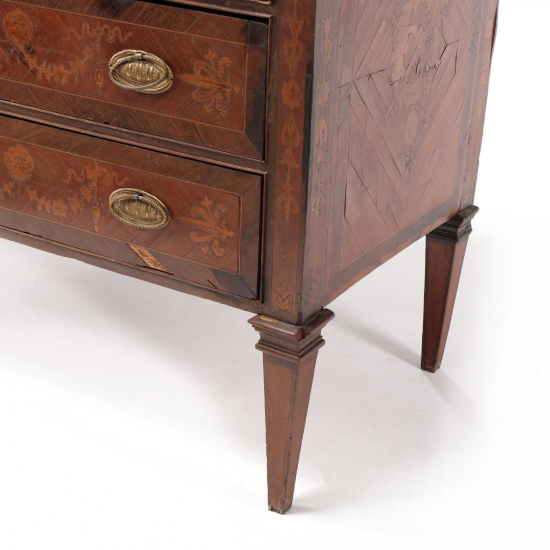 Italian Marquetry Inlaid Commode - 4
