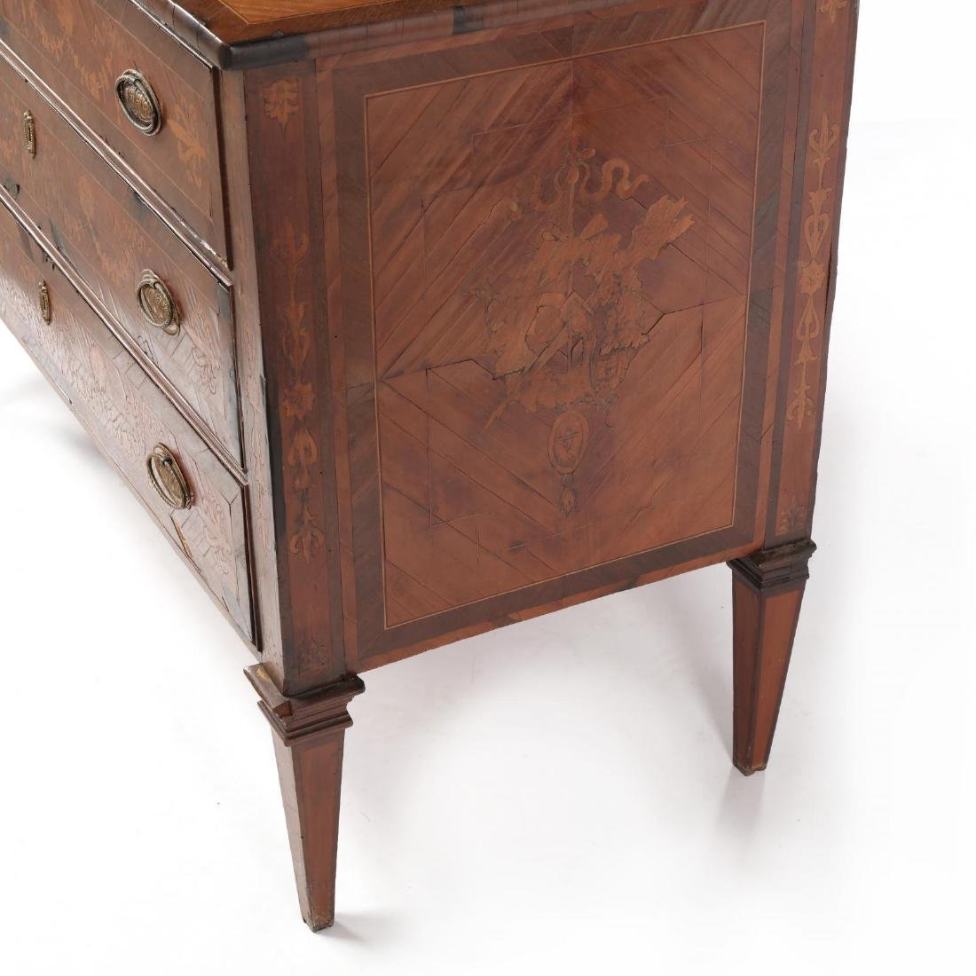 Italian Marquetry Inlaid Commode - 5