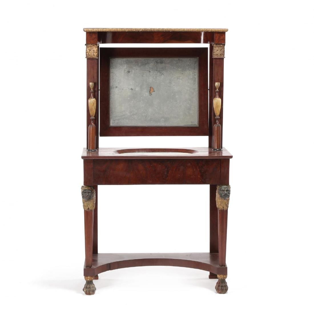 Russian Neoclassical Mahogany Dressing Table