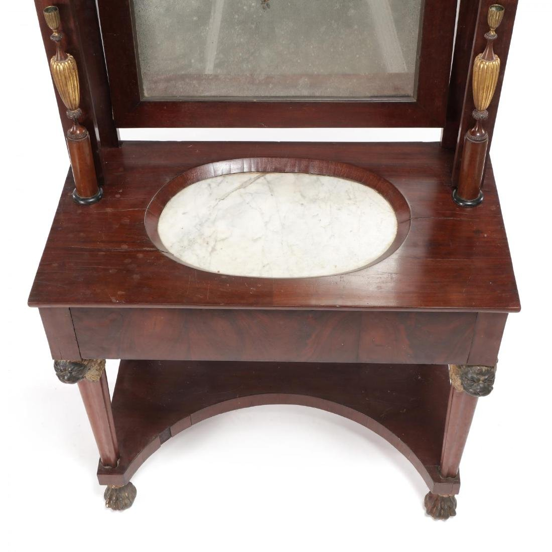 Russian Neoclassical Mahogany Dressing Table - 2