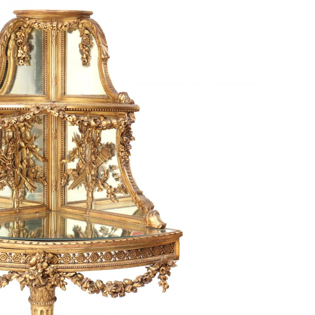 Louis XV Style Carved and Gilt Corner Etagere - 3